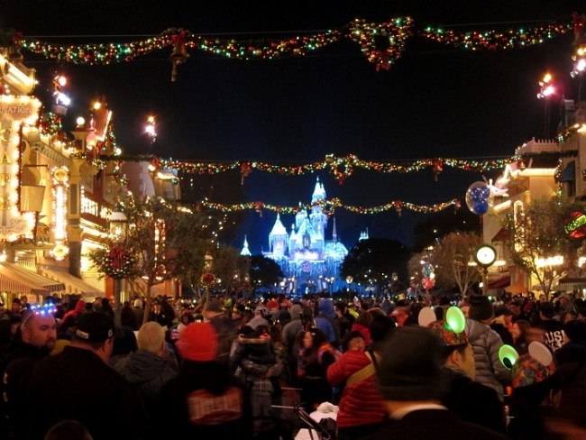 Disneyland Main Street USA on New Year's Eve
