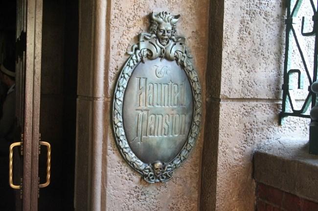 Tokyo Disney Haunted Mansion Sign