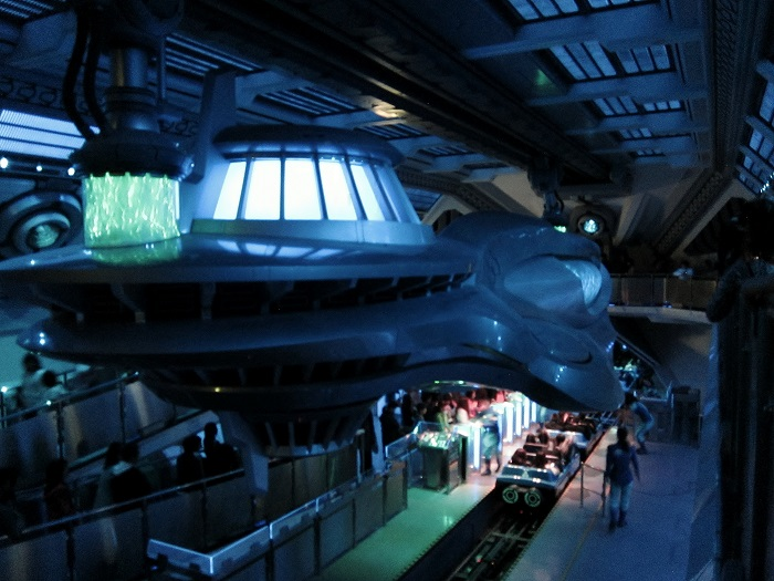 Space Mountain Loading Room at Tokyo Disneyland