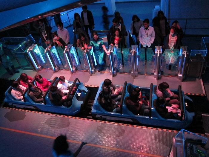 Space Mountain Ride Vehicles at Tokyo Disneyland