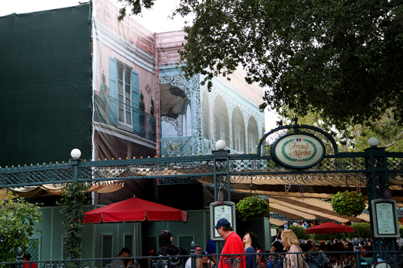 Construction at New Orleans Square