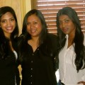 Left to right: Renita Reddy, Monisha Prasad and Angelene Prakash.