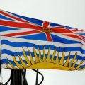 The British Columbian flag incorporates the British flag in its design. Photo by Scazon, Flickr.