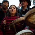 Idle no more protesters in Vancouver