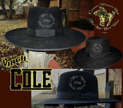 Virgil Cole Custom Handmade Hat