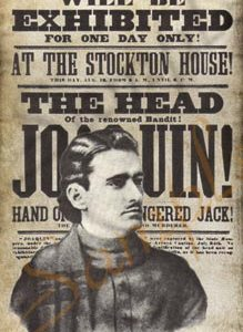 Head of Joaquin Murieta Poster