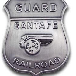 Santa Fe Railroad Guard Badge