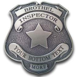 Blank Brothel Inspector Badge