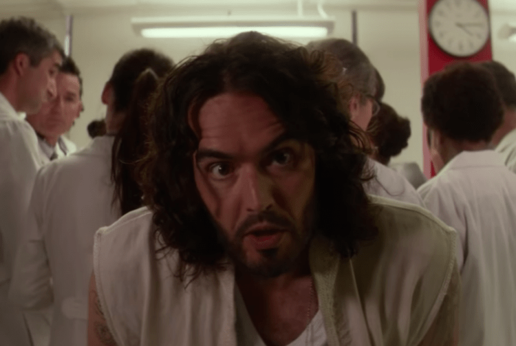 """Russell Brand plays God in """"Army of One"""""""