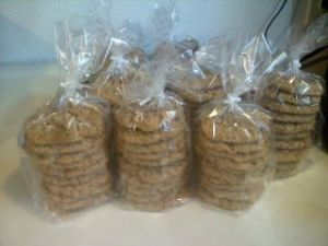 Cookies waiting to be packaged
