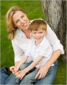 Dawn and her son Bryce