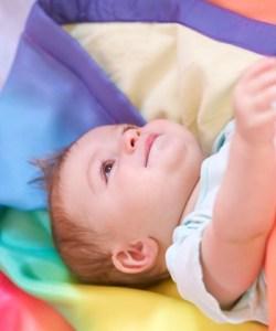 Sarah's Silks rainbow blanket