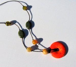 Jeemaa's orange necklace