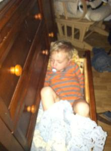 sleeping in a drawer