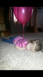 sleeping with balloon