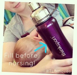 Thinksport bottle and breastfeeding photo