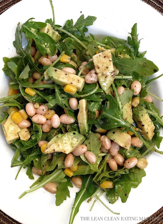 Paleo Arugula Salad with Cannellini Beans
