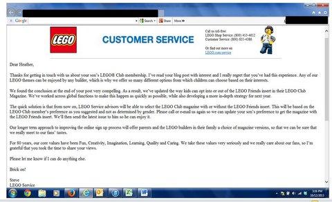 Lego response