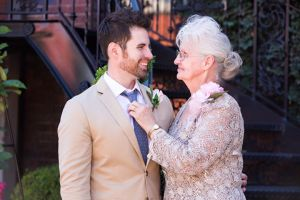 Jonathon with his Mom on our wedding day