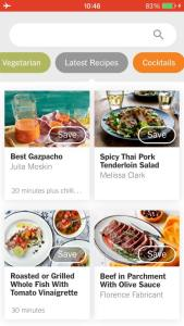 The New York Times Cooking Application