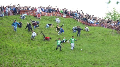 Cheese Rolling, a strange sport which is gaining popularity