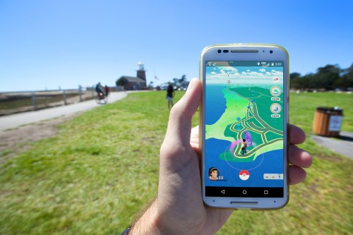 Pokemon GO showing virtual map of your actual surrounding