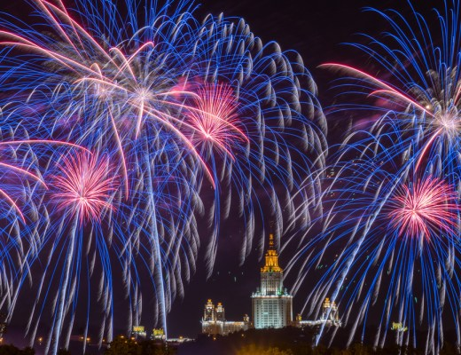 international fireworks festival in Moscow
