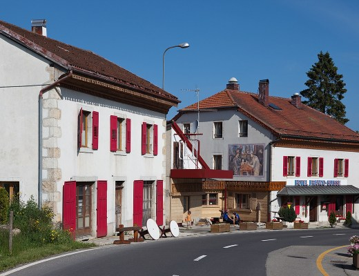 Hotel Arbez lies on the borders between France and Switzerland
