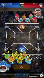 Pokemon Duel battle screenshot
