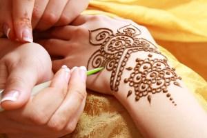 Henna drawn onto a hand