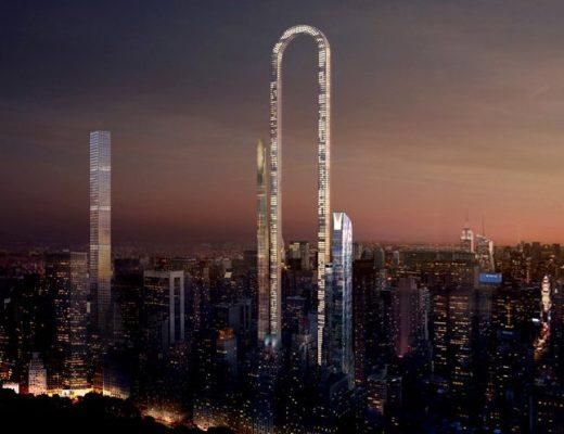 A render of the Big Bend building design - oiio studio