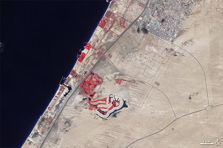 Dubai in 2000 - NASA