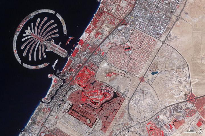 Dubai in 2011 - NASA