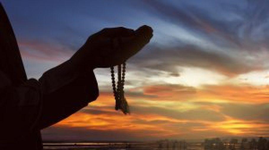 Man praying during Ramadan