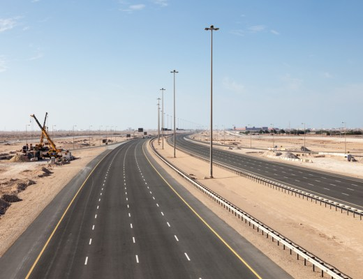 Road connecting Al Shamal with Doha