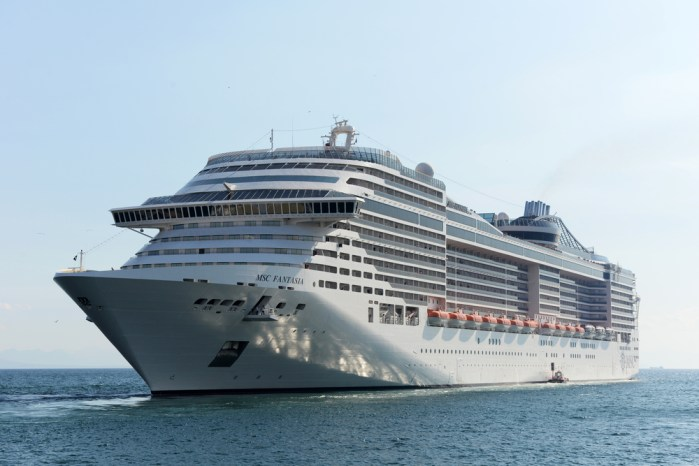 MSC Fantasia is the largest passenger cruise ship to dock at Doha Port, Qatar