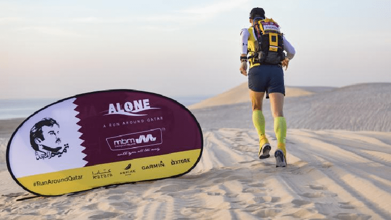 French Pierre Daniel will run around the country of Qatar