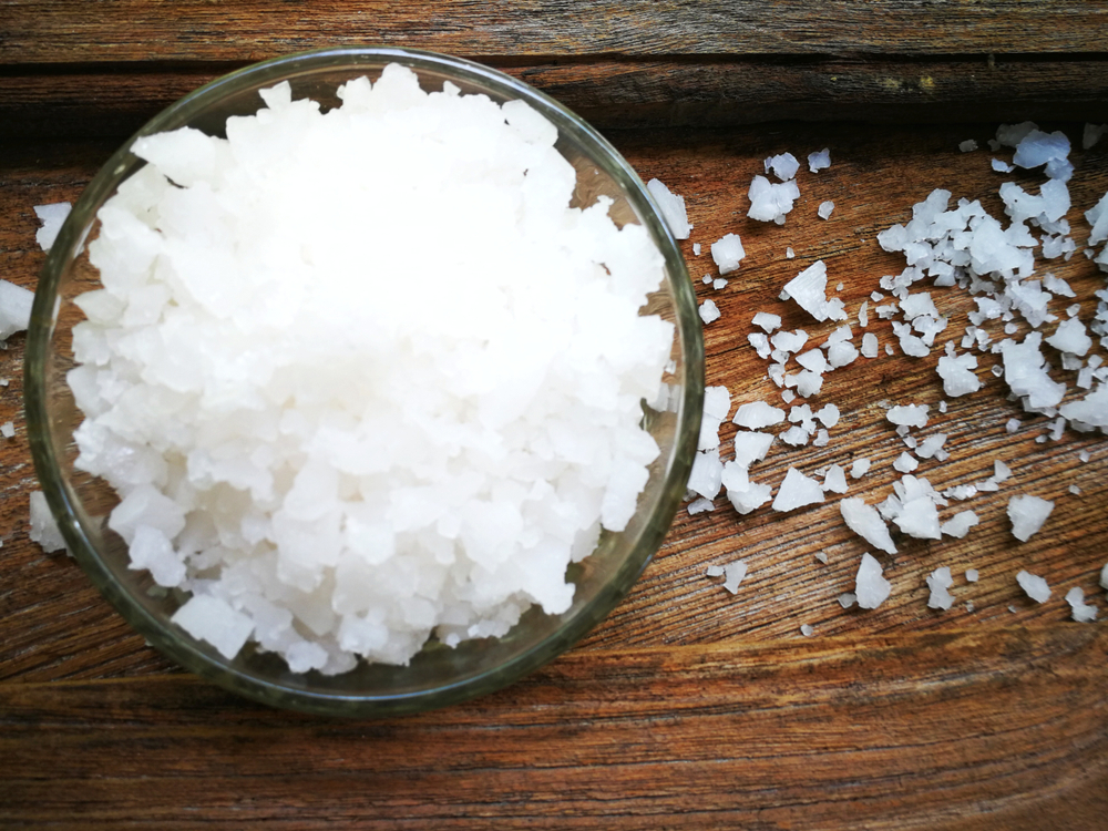 There's a good difference between table salt, kosher salt and sea salt