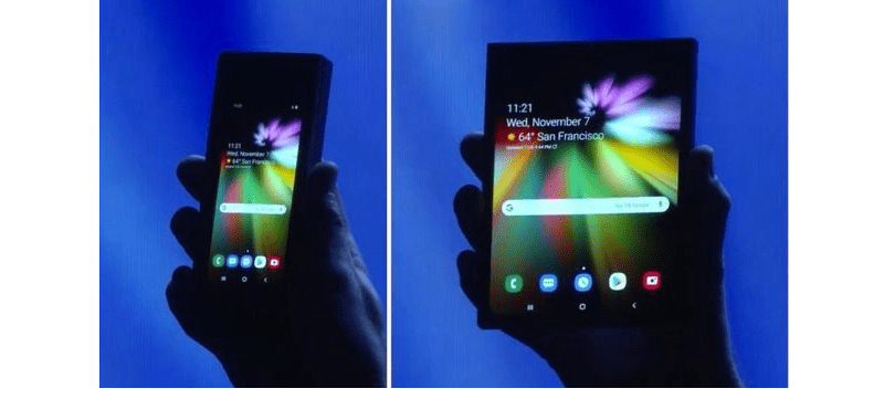 samsung unveiled foldable phone with infinity flex display