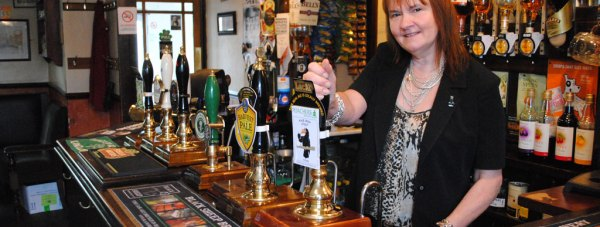 The Strugglers Inn Landlady Anna. Photo: The Lincolnite