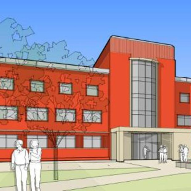 Artist's impression of the front of the renovated Becor House off Green Lane