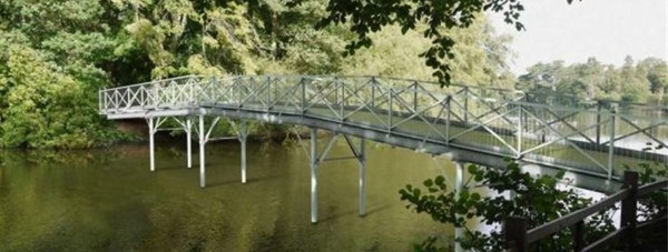 Designs of the new White Bridge at Hartsholme Park