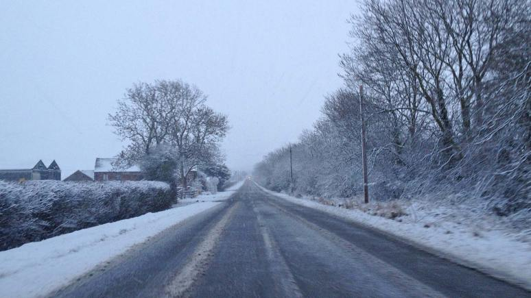 Gritters treated the major A and B routes in Lincolnshire, but some patches remain treacherous and police advise driving with care.