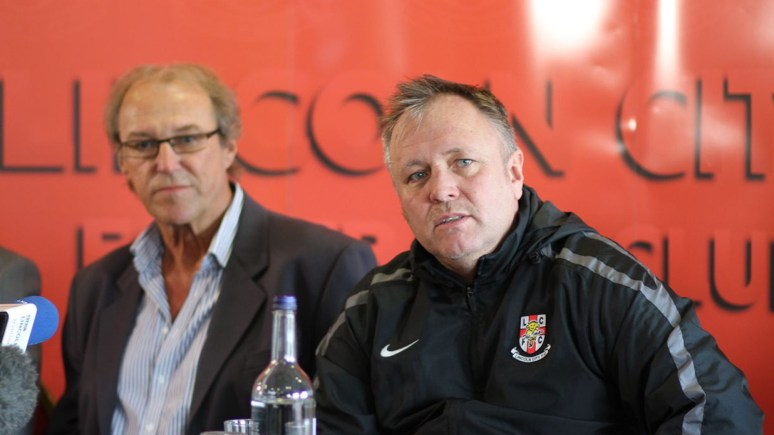 Imps Chairman Bob Dorrian and team manager Gary Simpson. Photo: Andrew West