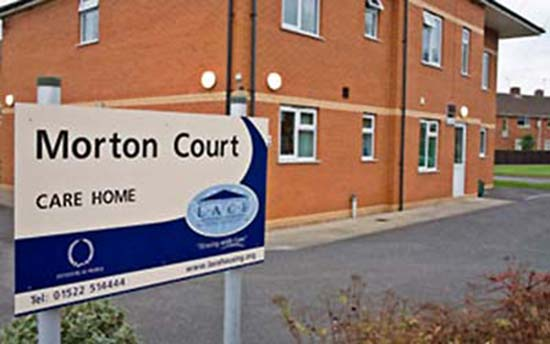 Morton Court care home in Lincoln