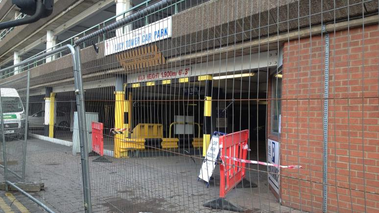 Lucy Tower car park will be out of action for longer than expected.