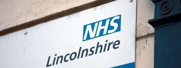 NHS Lincolnshire sign logo