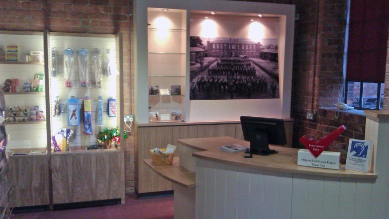 A view of the new counter in the gift shop. Photo: Lincolnshire County Council