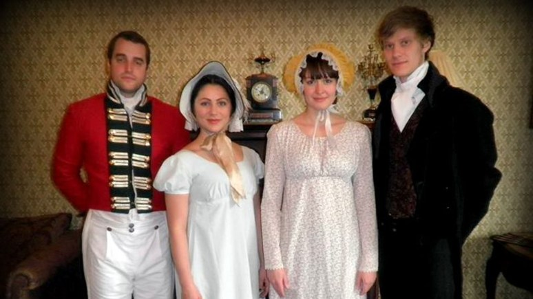 Pride and Prejudice cast Graham Hill, Emelye O'Dwyer, Katy Helps and Dominic Blakey.