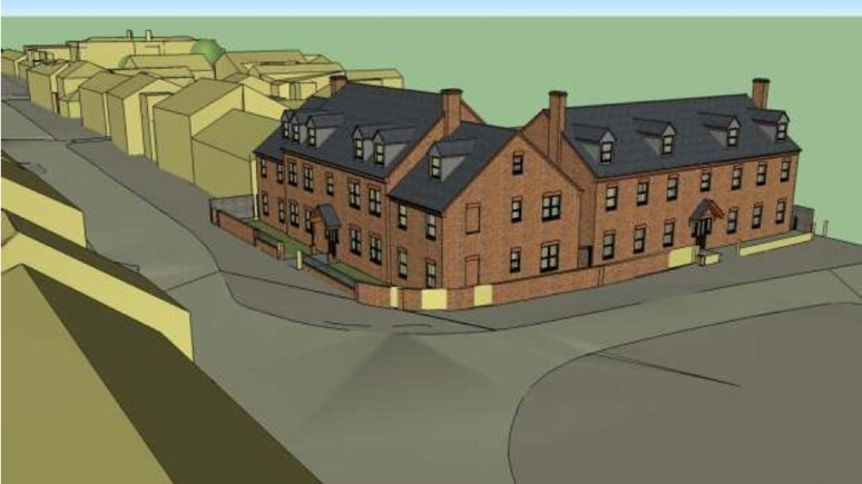 Designs for the uphill Lincoln student flats by applicants White Design Ltd